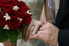 Bride and Groom's hands Royalty Free Stock Photo