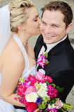 Bride and groom secret Royalty Free Stock Images