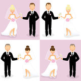 Bride and groom set 3 Royalty Free Stock Photography