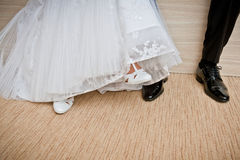 Bride and groom shoes. Stock Image