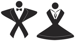 Bride and Groom sign. EPS file available. Royalty Free Stock Photos