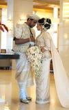 Bride and groom in Sri Lanka Royalty Free Stock Photos