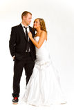 Bride and Groom in Studio Royalty Free Stock Images