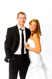 Bride and Groom in Studio Royalty Free Stock Image