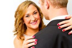 Bride and Groom in Studio Stock Photography