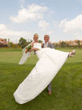 Bride and Groom in the sunshine Stock Photography