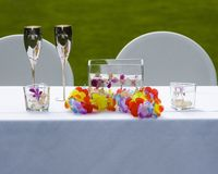 Bride and Groom Table Royalty Free Stock Photo