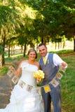 Bride Groom Thank You Banner Stock Photo