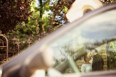 Bride and groom  on their wedding day Royalty Free Stock Photography