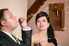 Newlyweds Royalty Free Stock Photos