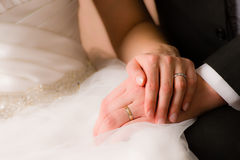 Bride and groom together Stock Photography
