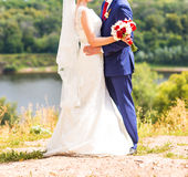 Bride and groom together Royalty Free Stock Photo