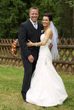 Bride and groom together Royalty Free Stock Photography
