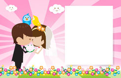 Bride and Groom V2 003. Bride and Groom Vector cartoon Stock Photography