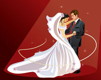 Bride and Groom - Vector Stock Image