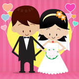 Bride and groom 0001. Bride and Groom Vector cardtoon Royalty Free Illustration