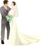 Bride and groom vector illustration Royalty Free Stock Image