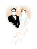 The bride and groom Royalty Free Stock Photography