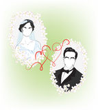 The bride and groom Royalty Free Stock Images