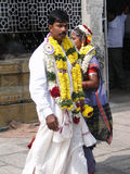 Bride and groom visit the Shiva Murga temple Stock Photos