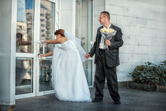The bride and groom want a wedding soon. Stock Images