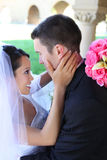 Bride and Groom at Wedding Royalty Free Stock Image