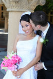 Bride and Groom at Wedding Royalty Free Stock Photography