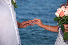 Bride and groom  wedding Royalty Free Stock Photography