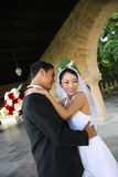 Bride and Groom at Wedding Royalty Free Stock Photo