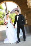 Bride and Groom at Wedding Stock Photos