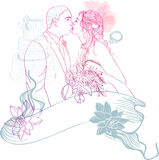 Bride and Groom. Wedding Background Stock Images