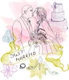 Bride and Groom. Wedding Background Stock Photo