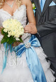 Bride is groom and wedding bouquet Royalty Free Stock Photo