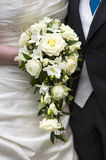 Bride and groom with wedding bouquet Royalty Free Stock Photos