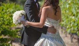 Bride and groom wedding stock photos