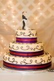 Bride & Groom on Wedding Cake Stock Image