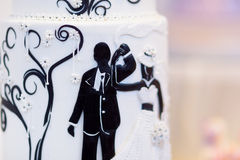Bride and groom wedding cake Royalty Free Stock Photo