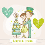 Bride and Groom - Wedding Card Royalty Free Stock Photos