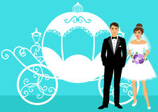 Bride and groom. Royalty Free Stock Photos