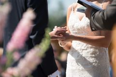 Bride and Groom on Wedding Ceremony royalty free stock photos
