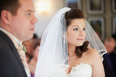 Bride And Groom During Wedding Ceremony Stock Photography