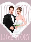 Bride and Groom Wedding Ceremony marriage . ceremony, greeting card, greeting, in stock images