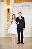 Bride and groom at wedding ceremony Stock Photography