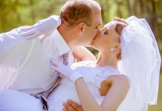 Bride and groom on a wedding day Stock Photography