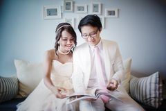Bride and Groom. Wedding day Royalty Free Stock Image