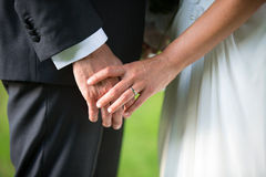 Bride and Groom in a wedding day Stock Photos