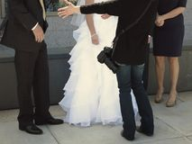 Bride and Groom Wedding Day Photographer Royalty Free Stock Photography