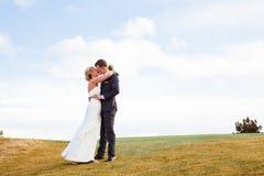 Bride and Groom Wedding Day Portrait Stock Image