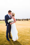 Bride and Groom Wedding Day Portrait Royalty Free Stock Photos