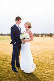Bride and Groom Wedding Day Portrait Stock Photography